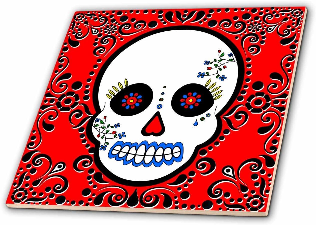 Raleigh Mall 3dRose ct_28866_4 Day of The Dead Muertos Skull Topics on TV Dia Sugar De Los