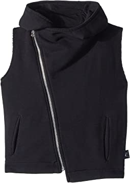 Nununu Hooded Diagonal Vest (Little Kids/Big Kids)