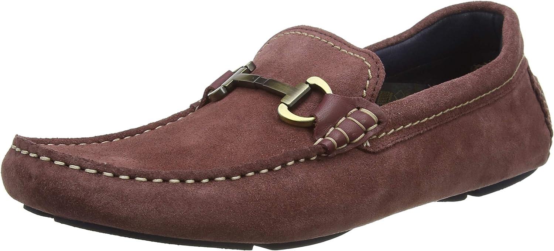 Ted Baker Men's MONNER Loafer Flat, Dusky Pink, 11