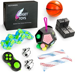 Neoformers Sensory Fidget Toys Set for Kids and Adults, 9 Pcs Anti-Anxiety Stress Relief Fidget Bundle for Kids and Adults...