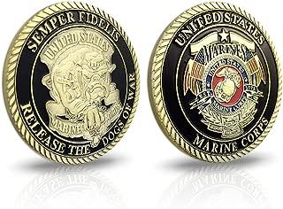 AtSKnSK U.S.Marine Corps Devil Dog Military Challenge Coin