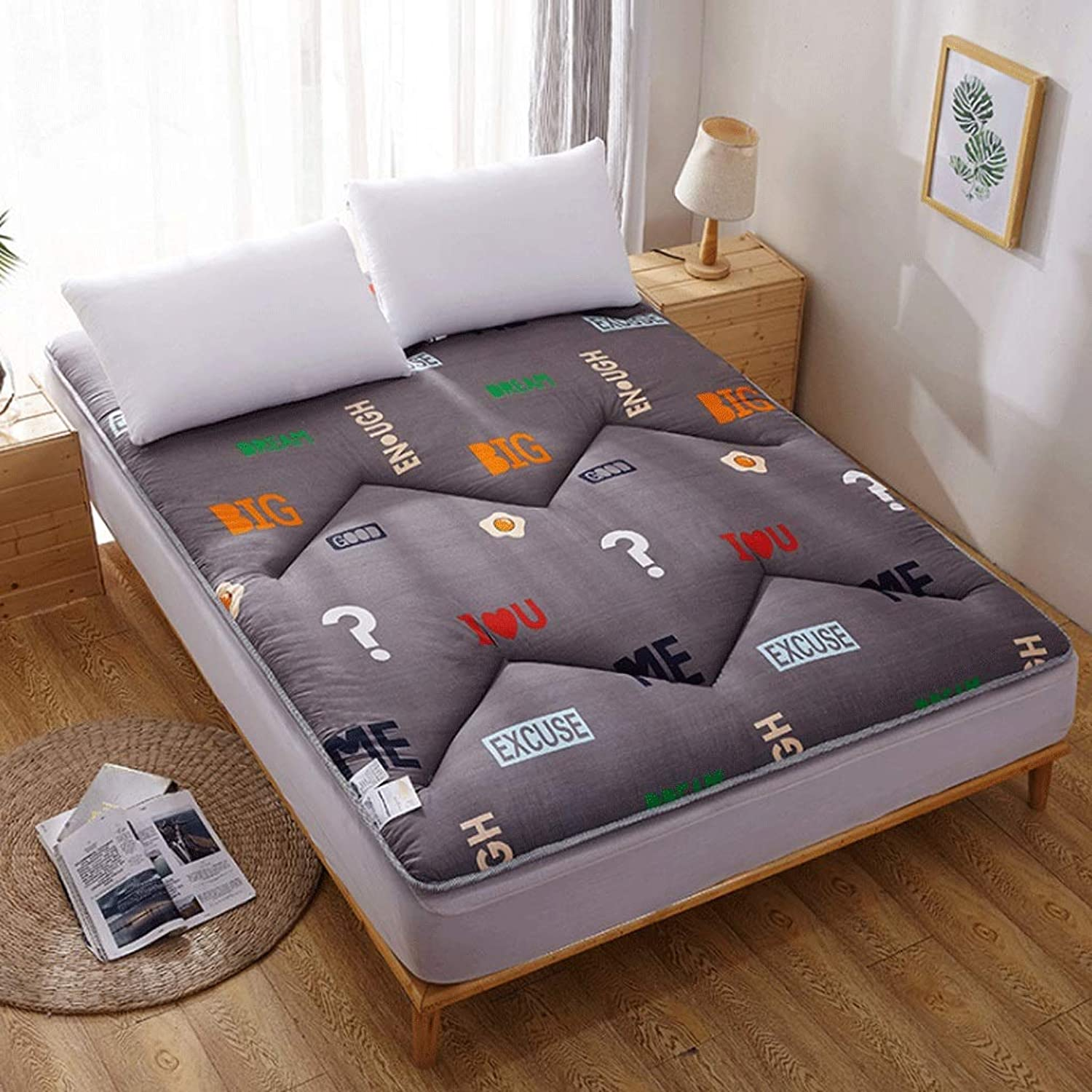 Foldable Student Sleeping Mat Tatami Mattress Moisture-Absorbing Breathable - 4 Sizes G (color   J, Size   100x200cm)