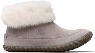 Sorel - Women's Out 'N About Bootie with Faux Fur Collar, Ash Brown