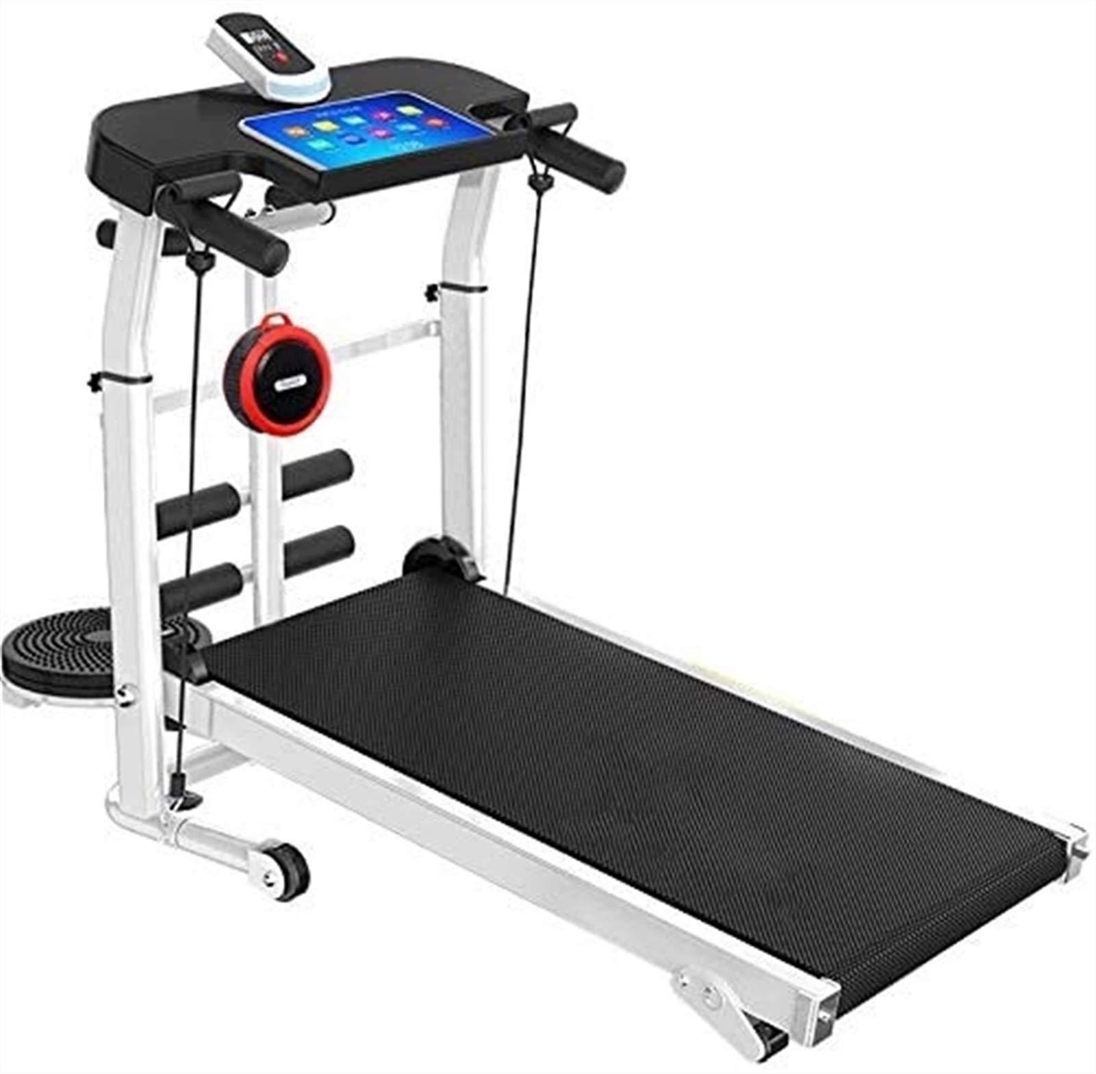 2 in 1 Manual Walking Treadmills, Portable Sit ups & Running for Home Office Use Gym Treadmills Unisex Household Mechanical Treadmill Machine RunningMachine1121