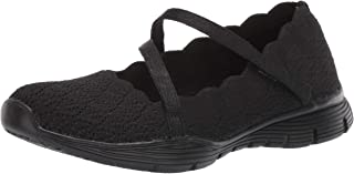 Skechers Womens Seager - Strike Out - Scalloped Engineered Knit Mary Jane Mary Jane Flat