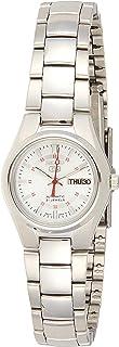 ساعة سيكو النسائية 5 بوصات يابانية آلية من الفولاذ المقاوم للصدأ - اللون: فضي اللون (SYMC21)