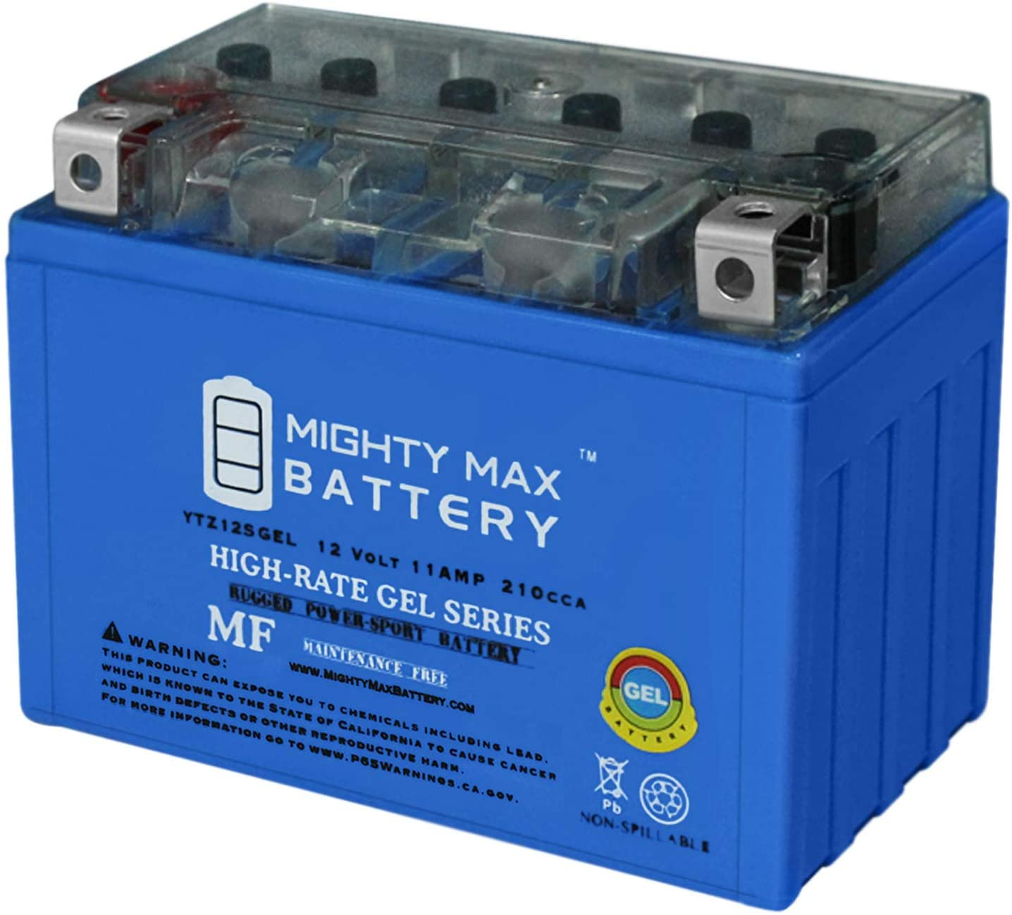Mighty Max Battery 12V 11AH 210CCA 1000 Gel RV Store Honda Manufacturer regenerated product for