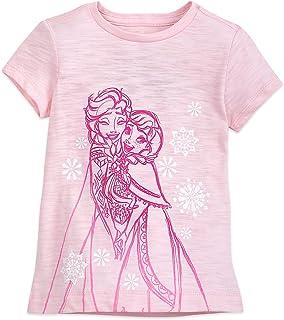 Disney Anna and Elsa T-Shirt For Girls Pink