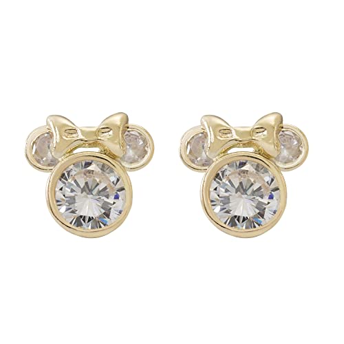 f7ff63861 Disney Jewelry Mickey or Minnie Mouse 10k Yellow Gold Cubic Zirconia Stud  Earrings Mickey's 90th Birthday
