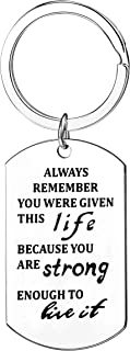Inspirational Gifts Always Remember Keychains Jewelry Encouragement Graduation Presents