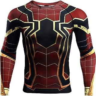 Spider-Man Compression Shirt for Mens 3D Print T-Shirt Fitness Top