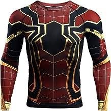 Spider-Man Compression Shirt Men's 3D Print Top (Small)