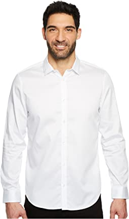 Calvin Klein - Solid Sateen Button Down Shirt