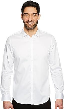 Calvin Klein - Solid Sateen Button Down Shirt
