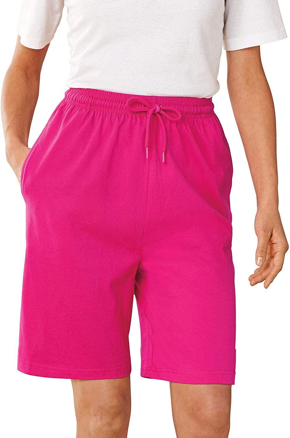 Plus Size Knit Shorts   Women?s Essential Cotton Shorts Available in Missy and Plus
