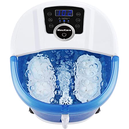 FootSpaBathMassager6in1 Heat,Bubbles,Vibration,4MotorizedMassageRollers,FrequencyConversion,Time&TempratureSettings,HomeUse