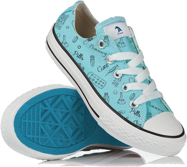 ZooSurf Pharmacist Chemist Women shoes Gift Uniform Sneakers bluee