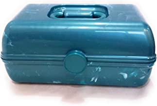 On The Go Girl Makeup Cosmetic Case Retro Look Caboodles (teal marble)