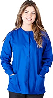 Natural Uniforms Women's Warm Up Jacket Medical Scrub Jacket (XS to 5XL) (Large, Dark Royal Blue)