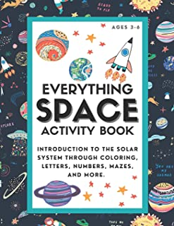 Everything Space Activity Book: Introduction to the Solar System through coloring, letters, numbers, mazes, and more.