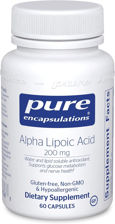 Pure Encapsulations Super sale Alpha Lipoic Acid fo ALA 200 Now free shipping Supplement mg