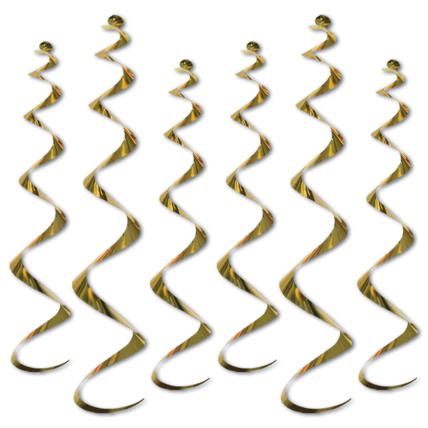 Twirly Whirlys (gold)    (6/Pkg)