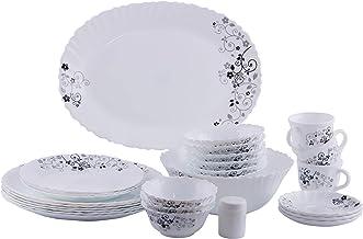Delcasa 40Pc Opalware Floreal Dinner Set 1x1, DC1467, White