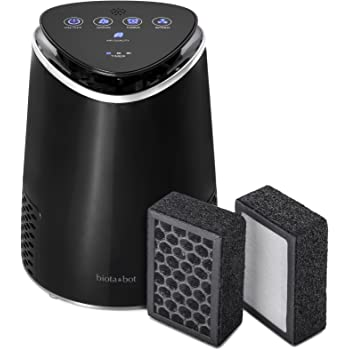 Biota Bot #MM108 Desktop Air Purifier True HEPA Ionic Air Filtering System with 5 Stages of Air Purification, Air Cleaner-Activated Carbon Filter for Purifying Allergies, Dust, Smoke, Pet Odors, Mold