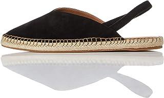 Marchio Amazon - find. - Slingback Leather Espadrille, Sandali con Cinturino alla Caviglia Donna