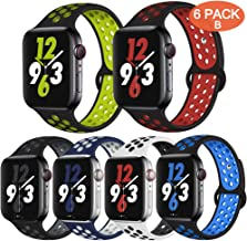 OriBear Compatible for Apple Watch Band 44mm 42mm 40mm 38mm, Breathable Sporty for iWatch Bands Sreies 5 Series 4/3/2/1, Various Styles and Colors for Women and Men