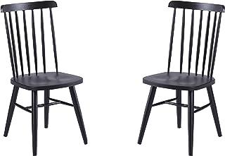 Adec Group Seatle, Pack de 2 sillas, Silla Comedor, Cocina o Salon, Acabado Negro, Medidas: 40 cm (Ancho) x 43 cm (Fondo) x 87 cm (Alto)