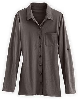 Fair Trade Organic Relaxed Knit Button Down Shirt