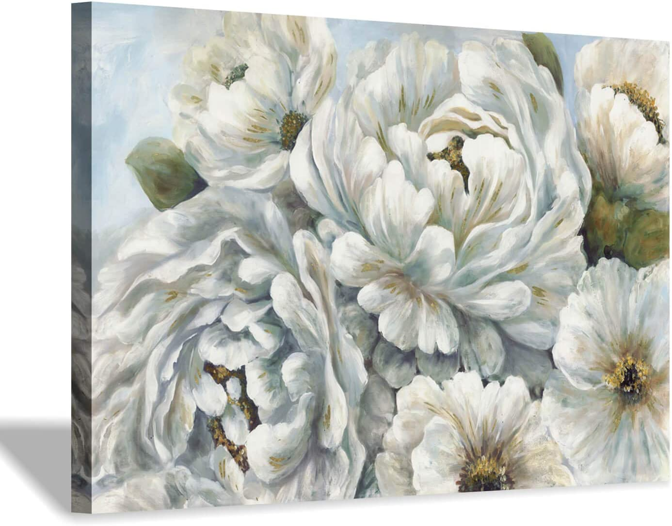 Hardy Gallery Peony Flowers Painting Art: Max 50% OFF Austin Mall Wall Art White Blossom