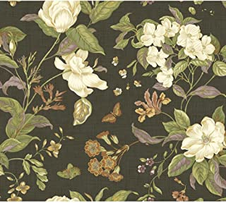 York Wallcoverings Williamsburg Garden Images Removable Wallpaper, Black/White/Green/Orange/Russet/Purple/Gold