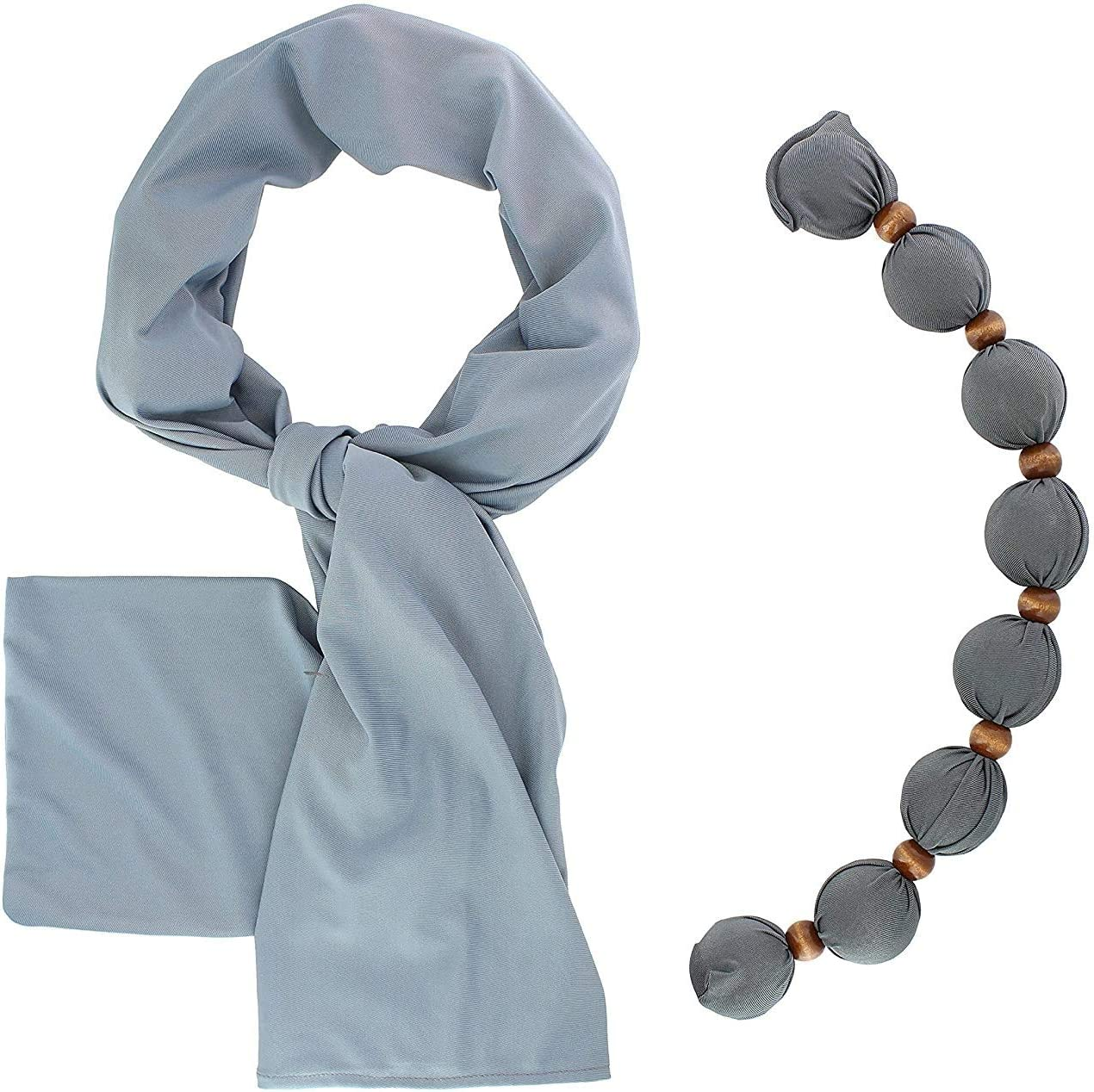 Nano-Ice Cooling Necklace + Scarf - Grey Styl in Beat The Mesa Indianapolis Mall Mall Heat