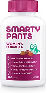 SmartyPants Women's Formula Gummy Multivitamins: Vitamin C, D3, and Zinc for..