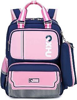 BAIGIO Mochila Infantil Mochilas Escolares Primaria Bolsa Casual Mochila para Estudiantes de 6-13 años (Pink)