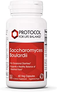 Protocol For Life Balance - Saccharomyces Boulardii - Supports a Healthy Balance of Intestinal Flora, GI Tract Relief, Upset Stomach, Immunity, Digestion, Gut Health - 60 Veg Capsules