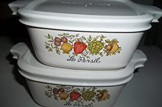 2 Corning Ware P-43-B Spice of Life with Airtight Plastic Lid