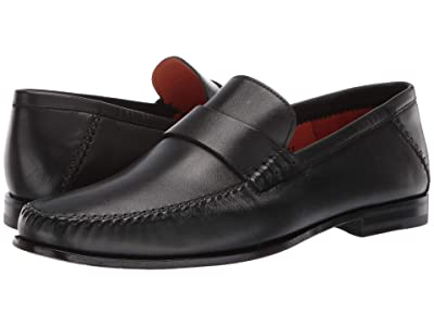 Santoni Paine Penny Loafer (Black) Men