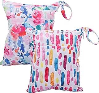 Cloth Diaper Wet Dry Bags Waterproof Reusable 2pcs