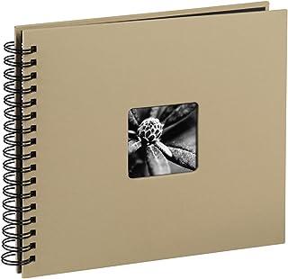 Hama 113681 - Álbum de fotos (50 páginas negras álbum con espiral compartimento para insertar foto) 28 x 24 cm  color beige