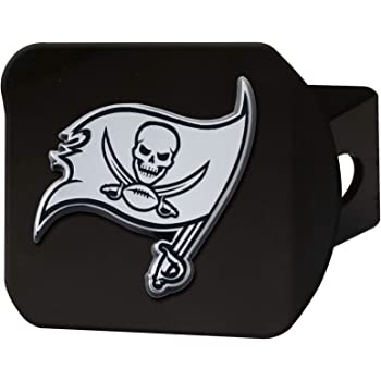 2 Square Type III Hitch Cover FANMATS NFL Tampa Bay Buccaneers Metal Hitch Cover Chrome