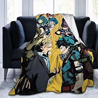 Flannel Fleece Throw Blanket for Spring Bed Floor, Ultra Cozy HeroAca Bnha Anime Joint Training Arc Fanart Wedding Throw, Warm Better Sleep 80x60 Inch