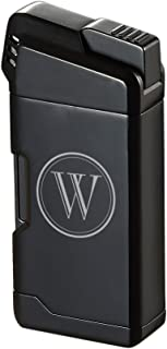 Personalized Visol Epirus Soft Flame Pipe Lighter With Free Initial Engraving (Black)