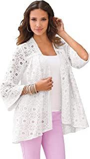 Sponsored Ad - Roaman's Women's Plus Size Lace Swing Jacket