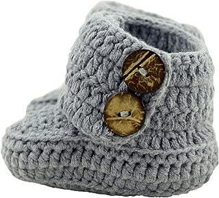Knit Crochet Baby Booties Newborn Socks Handmade Shoes Deep