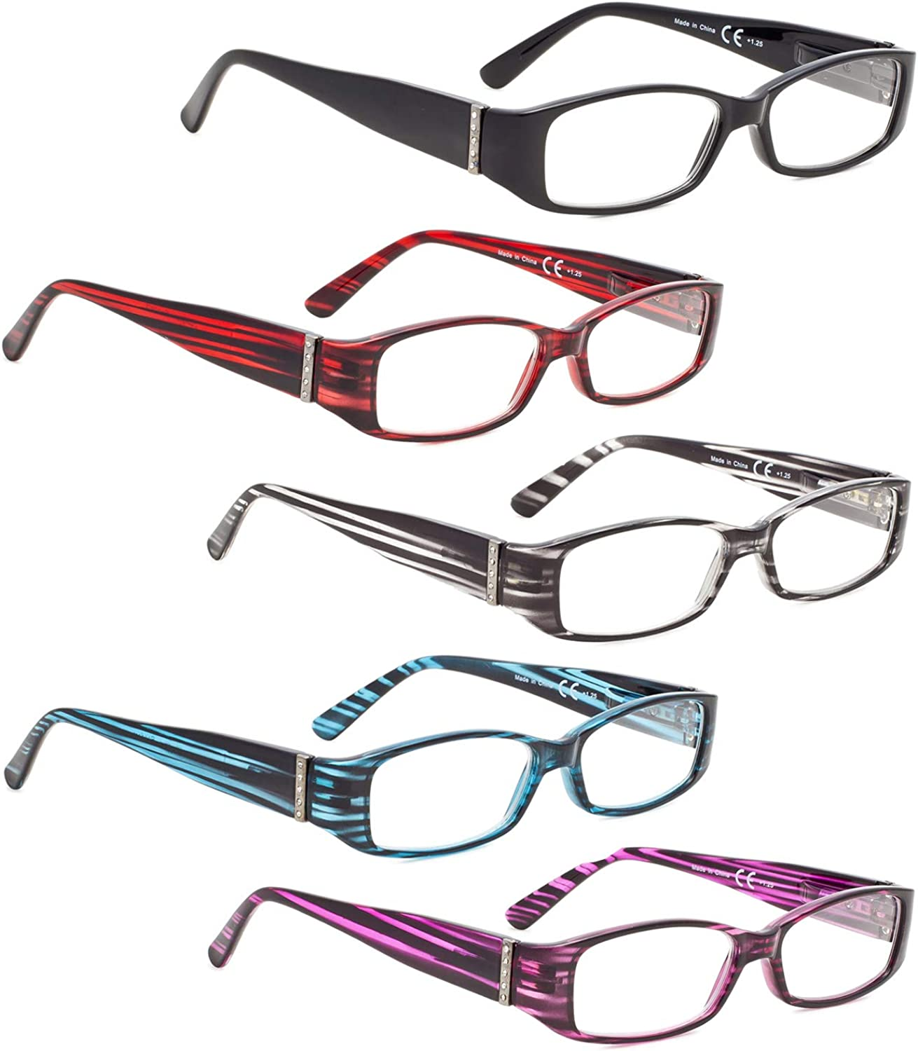 READING GLASSES Super beauty product restock quality top! 5 OFFicial pack Arms with Genuine Austrian Crystals Reade