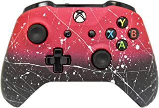 Hand Airbrushed Fade Xbox One Custom Controller Compatible with Xbox One (Matte Red & Black Fade)