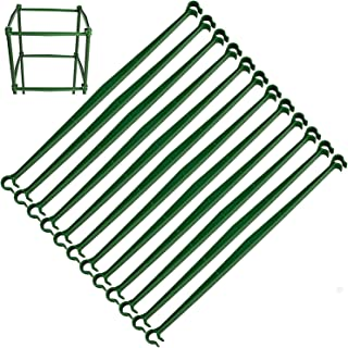 """36 PCS Expandable Trellis Connectors-11.8"""" Garden Plants Stake Arms with 2 Buckles for Tomato Cage Attach 11mm Diameter Pl..."""